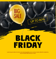 black friday big sale background vector image