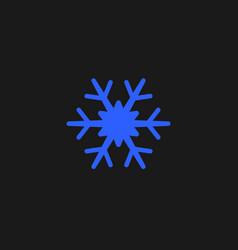 Blue snowflake icon snow pictogram winter symbol vector
