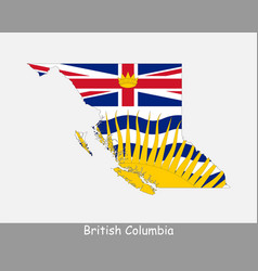 british columbia map flag vector image