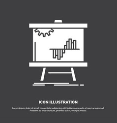 Business chart data graph stats icon glyph symbol vector