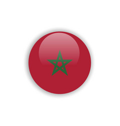 Button morocco flag template design vector