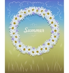 Camomile wreath vector
