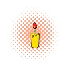 Candle icon comics style vector