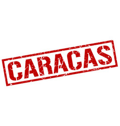 Caracas red square stamp vector