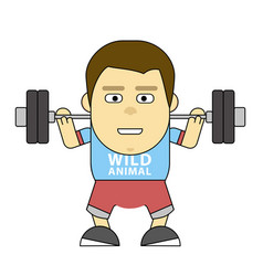 character in training 2d flat for vector image