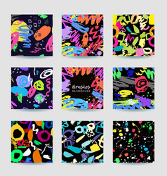 Colorful seamless patterns and frame with grange vector