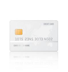 Credit card realistic mockup clear plastic card vector