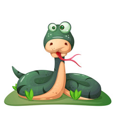 cute funny crazy snake vector image