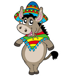 Dancing mexican donkey vector