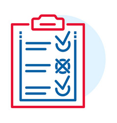 Delivery check list icon outline style vector