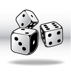 dice game cube pack 01 vector image