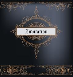 Elegant frame or invitation card for design vector