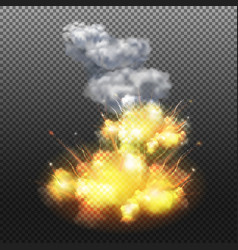 explosion transparent composition vector image