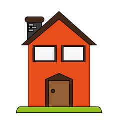 Facade house of plants vector