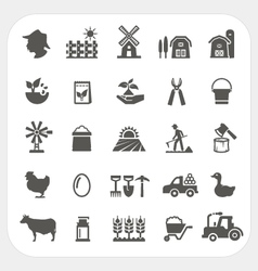 Farm and agriculture icons set vector