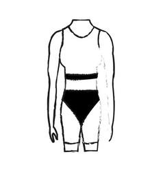 female torso fit body icon image vector image
