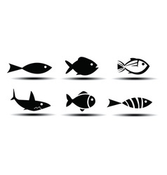 Fish icons vector