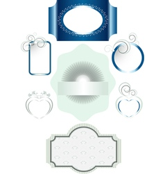 Frames with different decorations vector image