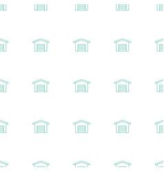Garage icon pattern seamless white background vector