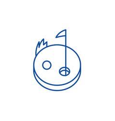 golf line icon concept golf flat symbol vector image