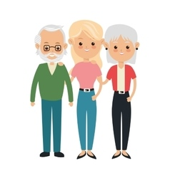 Grandparents and dougther icon Family design vector