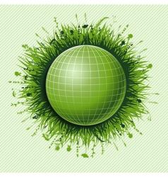 green ball vector image