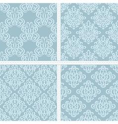 Green summer ethnic pattern set vector image