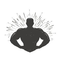 gym champion logo or label sport symbol vector image