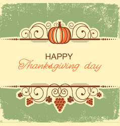 happy thanksgiving background with decorative vector image