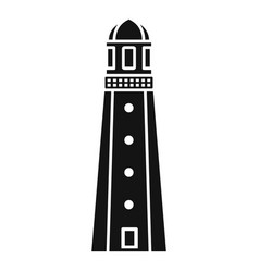 Harbor lighthouse icon simple style vector