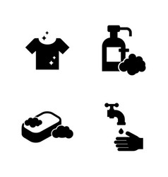 hygiene simple related icons vector image