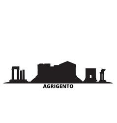 Italy agrigento city skyline isolated vector