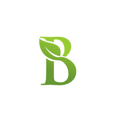 letter b leaf nature logo vector image
