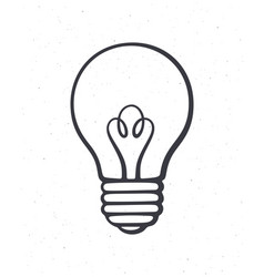 light bulb outline symbol idea new solution vector image