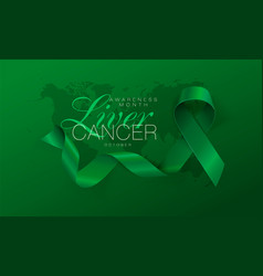 Liver cancer awareness calligraphy poster design vector