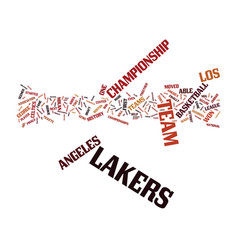 Los angeles lakers history text background word vector