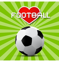 Love Football Theme on Retro Green Background vector