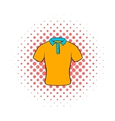 Mens polo shirt icon comics style vector