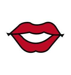Mouth woman lips makeup lipstick vector