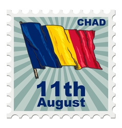 national day of Chad vector image