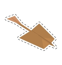 Paper plane creative idea icon cut line vector