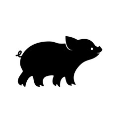 piglet icon image pig silhouette vector image