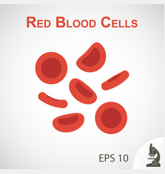 Red blood cells flat design vector