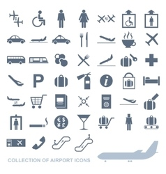 set airport icons vector image
