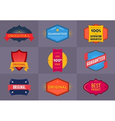 Set of flat Original and Premium labels vector image