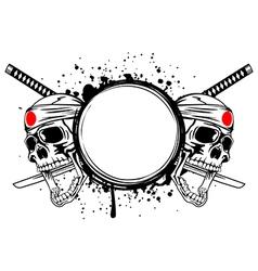 Skull kamikaze vector