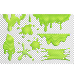 Slime drips realistic set vector