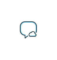 speech bubble icon design interaction icon line vector image