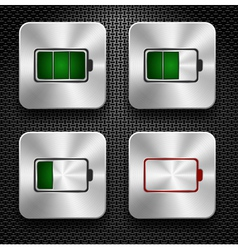 Steel icon battery vector