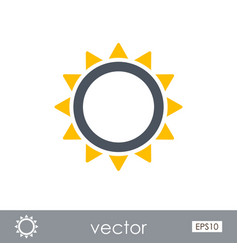 Sun outline icon summer vacation vector